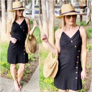 Infinity Raine Dresses - ✨RESTOCKED✨Black button front dress
